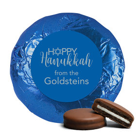 Personalized Hanukkah Belgian Chocolate Covered Oreo Cookies (24 Pack)