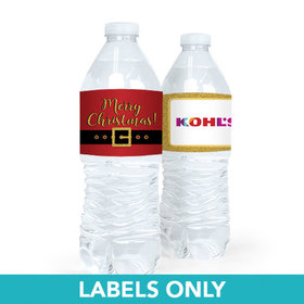 Personalized Christmas Santa Buckle Water Bottle Sticker Labels (5 Labels)