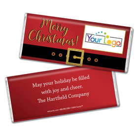 Personalized Christmas Santa Buckle Add Your Logo Chocolate Bar & Wrapper