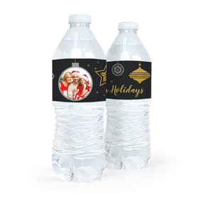 Personalized Christmas Once Upon a Holiday Water Bottle Sticker Labels (5 Labels)