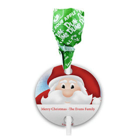 Personalized Christmas Ho Ho Santa Dum Dums with Gift Tag (75 pops)