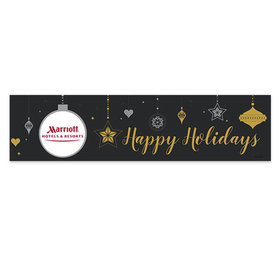 Personalized Christmas Add Your Logo Once Upon a Holiday 5 Ft. Banner
