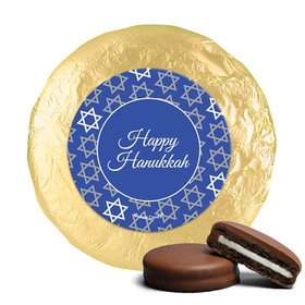 Hanukkah Festive Patern Chocolate Covered Oreos