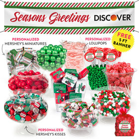 Personalized Season's Greetings Deluxe Candy Buffet - Containers Included