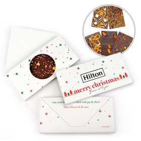 Personalized Christmas Simple Snowflakes with Logo Gourmet Infused Belgian Chocolate Bars (3.5oz)