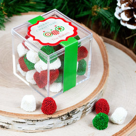 Personalized Christmas Ornaments JUST CANDY® favor cube with Jelly Belly Gumdrops