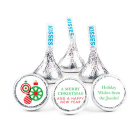 """Personalized Christmas Ornaments 3/4"""" Stickers (108 Stickers)"""