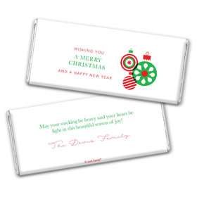 Personalized Christmas Ornaments Chocolate Bar & Wrapper