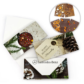 Personalized Christmas Corporate Gift Tag Gourmet Infused Belgian Chocolate Bars (3.5oz)