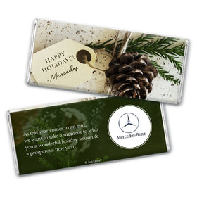 Personalized Christmas Corporate Gift Tag Chocolate Bar & Wrapper