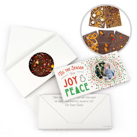 Personalized Christmas Confetti Gourmet Infused Belgian Chocolate Bars (3.5oz)