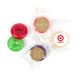 Personalized Happy Holidays Add Your Logo Life Savers 5 Flavor Hard Candy