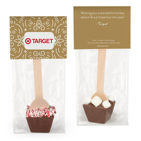 Personalized Happy Holidays Add Your Logo Hot Chocolate Spoon