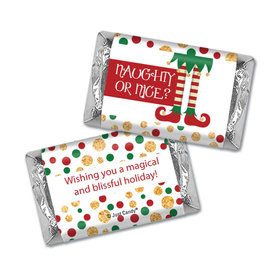 Personalized Christmas Naughty Or Nice Hershey's Miniatures Wrappers