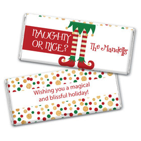 Personalized Christmas Naughty or Nice Chocolate Bar & Wrapper