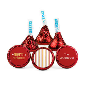Personalized Shimmering Christmas Hershey's Kisses (50 pack)