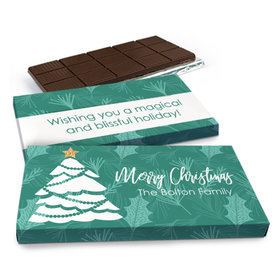 Deluxe Personalized Oh Christmas Tree Chocolate Bar in Gift Box (3oz Bar)