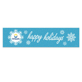 Personalized Christmas Wintry Wishes Add Your Logo 5 Ft. Banner
