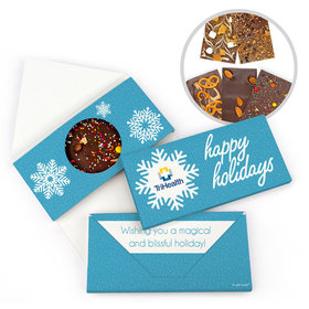 Personalized Christmas Wintry Wishes Gourmet Infused Belgian Chocolate Bars (3.5oz)