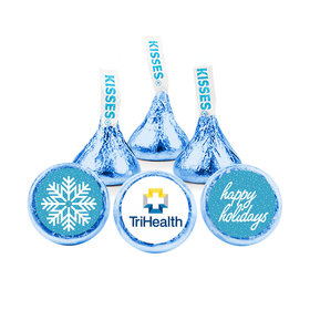 Personalized Christmas Wintry Wishes Hershey's Kisses (50 pack)