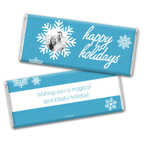 Personalized Christmas Wintry Wishes Chocolate Bar Wrappers Only