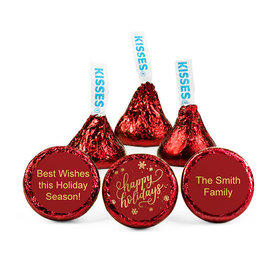 Personalized Happy Holidays Hershey's Kisses (50 pack)