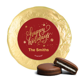 Personalized Happy Holidays Chocolate Covered Oreos