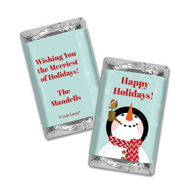Personalized Happy Holidays Snowman Hershey's Miniatures