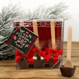 Personalized Christmas Tis the Season Hot Coco Hot Chocolate Spoon 3pk