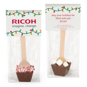 Personalized Christmas Lights Hot Chocolate Spoon