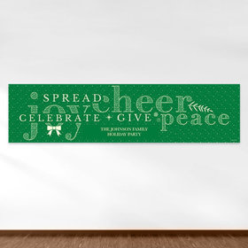 Personalized Christmas Spread Cheer 5 Ft. Banner