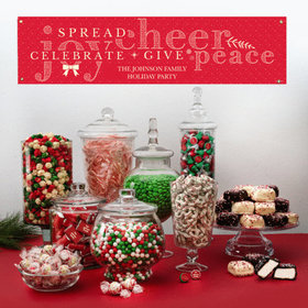 Personalized Christmas Season of Joy Deluxe Candy Buffet