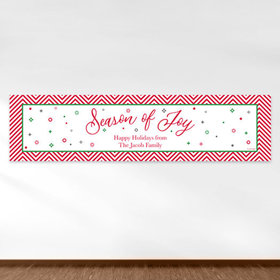 Personalized Christmas Season of Joy 5 Ft. Banner