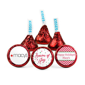 Personalized Christmas Season of Joy Add Your Logo Hershey's Kisses (50 pack)