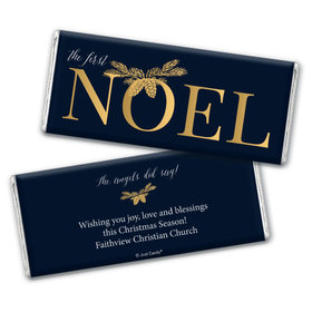 Personalized Christmas First Noel Chocolate Bar & Wrapper