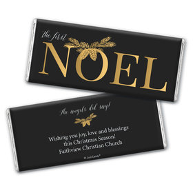 Personalized Christmas First Noel Chocolate Bar Wrappers Only