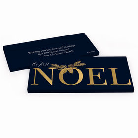 Deluxe Personalized Christmas First Noel Chocolate Bar in Gift Box