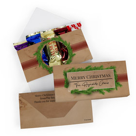 Deluxe Personalized Christmas Brown Paper Packages Roca Chocolate in Gift Box