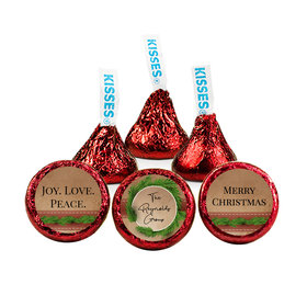 Personalized Christmas Brown Paper Packages Hershey's Kisses (50 pack)