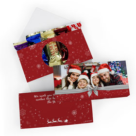 Deluxe Personalized Holiday Photo Roca Chocolate in Gift Box