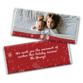 Personalized Christmas Welcoming Joy Chocolate Bar & Wrapper