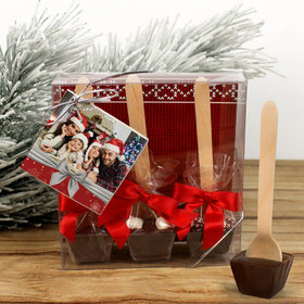 Personalized Happy Holidays Add Your Photo Hot Coco Hot Chocolate Spoon 3pk