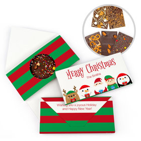 Personalized Christmas Winter Buddies Gourmet Infused Belgian Chocolate Bars (3.5oz)