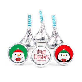 """Personalized Christmas Winter Buddies 3/4"""" Stickers (108 Stickers)"""