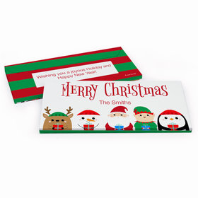 Deluxe Personalized Christmas Winter Buddies Candy Bar Cover