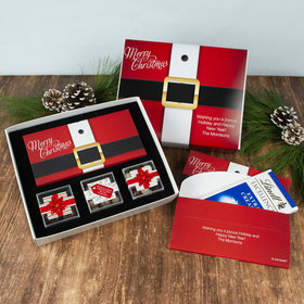 Personalized Christmas St. Nick Premium Gift Box with Lindt Milk Chocolate Bar & 3 JUST CANDY® favor cubes