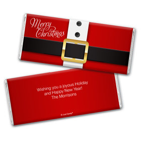 Personalized Christmas St. Nick Chocolate Bar Wrappers Only