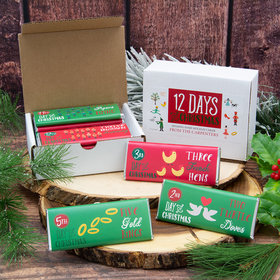 12 Days of Christmas Candy Hershey's Chocolate Bars Gift Box (12 pack)