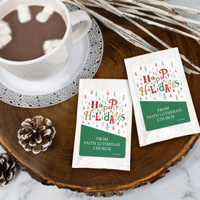 Personalized Christmas Hot Cocoa - Happy Holiday Trees