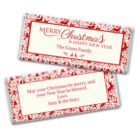 Personalized Christmas Iconic Christmas Chocolate Bar & Wrapper